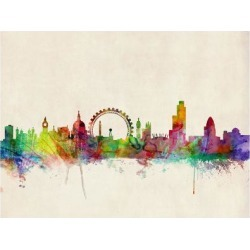 Art Print: London Skyline by Michael Tompsett: 24x18in found on Bargain Bro India from Art.com for $20.00
