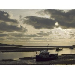 Photographic Print: Beached Fishing Boats, Low Tide Poster by James Emmerson: 24x18in
