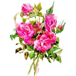 Art Print: Pink Roses Suren 2 by Suren Nersisyan: 16x12in found on Bargain Bro from Art.com for USD $15.20