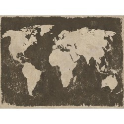 Stretched Canvas Print: World Map - Rustic by Paul Duncan: 18x24in found on Bargain Bro India from Art.com for $165.00