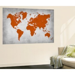 Wall Mural: World Map 14 by NaxArt: 72x48in