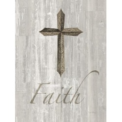 Art Print: Words For Worship Faith On Wood by Wild Apple Portfolio: 32x24in
