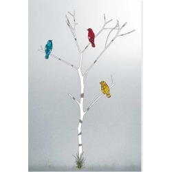 Stretched Canvas Print: Three in a Tree by Marvin Pelkey: 45x30in found on Bargain Bro India from Art.com for $195.00