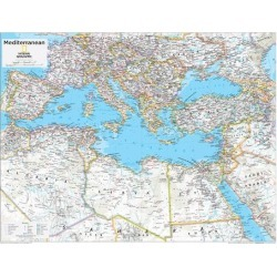 Art Print: 2014 Mediterranean Region - National Geographic Atlas of the World, 10th Edition: 32x24in