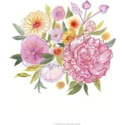 Art Print: Pink Petals I by Victoria Borges: 20x20in found on Bargain Bro Philippines from Art.com for $30.00