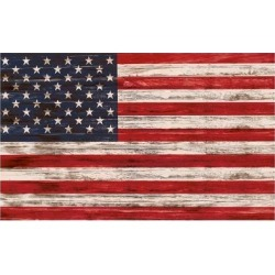 Art Print: United States Flag on Wooden Surface by FelipeS: 24x16in