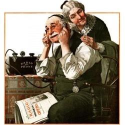 "Giclee Print: Wonders of Radio"" or ""Listen, Ma! Art Print by Norman Rockwell by Norman Rockwell: 16x16in"