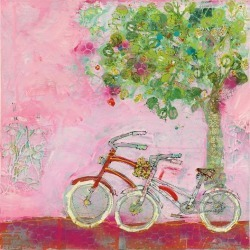 Art Print: Pink Bicycles by Wild Apple Portfolio: 16x16in