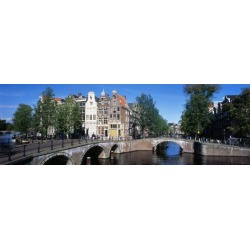 Photographic Print: Row Houses, Amsterdam, Netherlands Poster: 42x14in