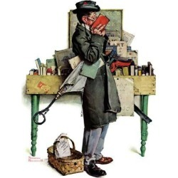 """Giclee Print: """"Bookworm"""", August 14,1926 Art Print by Norman Rockwell by Norman Rockwell: 24x18in"""