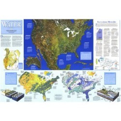 Art Print: 1993 Water Precious Resource Map by National Geographic Maps: 24x18in