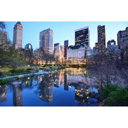 Photographic Print: Central Park South Skyline from Central Park Lake in New York City. by SeanPavonePhoto: 24x16in