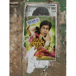 Photographic Print: Shahruk Khan in Torn Bollywood Movie Poster on Wall, Hospet, Karnataka, India, Asia by Annie Owen: 12x9in found on Bargain Bro Philippines from Art.com for $15.00