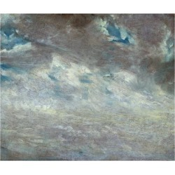 Giclee Print: Cloud Study, 1821 (Oil on Paper on Board) by John Constable: 24x18in