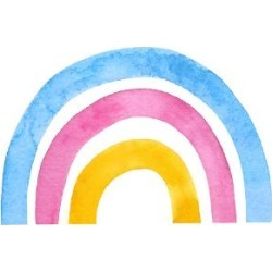 Stretched Canvas Print: Rainbow 2 by Lisa Nohren: 40x30in found on Bargain Bro Philippines from Art.com for $225.00