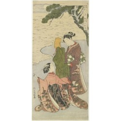 Giclee Print: Autumn Moonlight of Matsukaze, C. 1767 by Suzuki Harunobu: 24x16in found on Bargain Bro from Art.com for USD $22.80