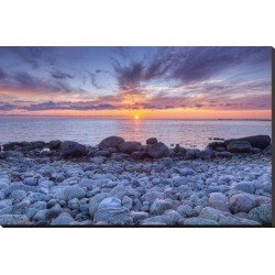 Stretched Canvas Print: Sunset at Green Point in Gros Morne National Park on the West Coast, Newfoundland, Canada: 29x44in found on Bargain Bro Philippines from Art.com for $200.00