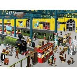 Art Print: Train Station: 18x24in