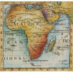 Art Print: World Map IV by Liz Jardine: 16x16in