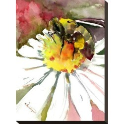 Stretched Canvas Print: Honey Bee 1 by Suren Nersisyan: 16x12in found on Bargain Bro from Art.com for USD $57.00