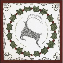 Art Print: Winter Wonderland Wreath by Cindy Shamp: 16x16in found on Bargain Bro India from Art.com for $15.00