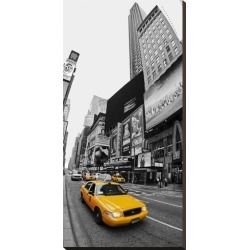 Stretched Canvas Print: Taxi in Times Square, NYC by Vadim Ratsenskiy: 36x18in found on Bargain Bro India from Art.com for $135.00