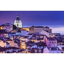 Photographic Print: Lisbon, Portugal Skyline at Alfama, the Oldest District of the City. by SeanPavonePhoto: 24x16in