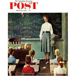 Giclee Print: Teachers & Professors Art Print by Norman Rockwell by Norman Rockwell: 16x12in