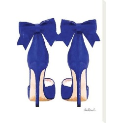Stretched Canvas Print: Navy Bow Shoes by Amanda Greenwood: 16x12in found on Bargain Bro India from Art.com for $38.00