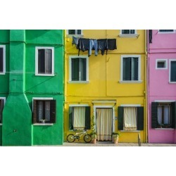 Photographic Print: Colourful Painted Houses in Burano, Veneto, Italy by Stefano Politi Markovina: 24x16in
