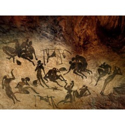 Photographic Print: Cave Painting, Artwork by SMETEK: 24x18in