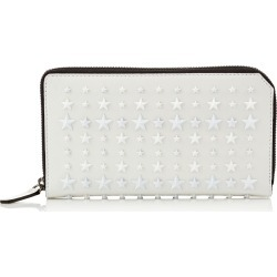 CARNABY White Satin Leather Travel Wallet with Mixed Stars found on MODAPINS from Jimmy Choo UK for USD $623.25