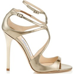 LANCE Gold Liquid Mirror Leather Sandals found on MODAPINS from Jimmy Choo UK for USD $754.97