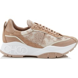 RAINE Ballet Pink Mix Floral Lace on Mesh and Leather Trainers found on MODAPINS from Jimmy Choo UK for USD $756.07