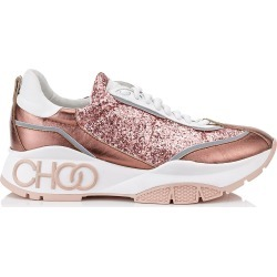 RAINE Candyfloss Galactica Glitter Fabric and Calf Leather Lace Up Trainers found on MODAPINS from Jimmy Choo UK for USD $685.98