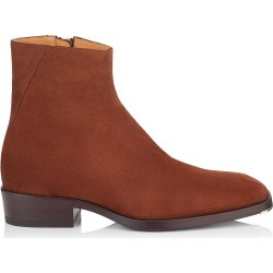 LUCAS Almond Dry Suede Ankle Boots found on MODAPINS from Jimmy Choo UK for USD $438.17