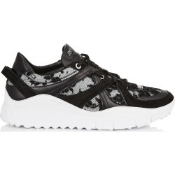 SEATTLE Black Mix Floral Lace on Mesh and Leather Trainers found on MODAPINS from Jimmy Choo UK for USD $698.89