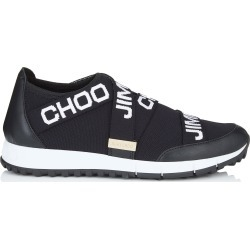 TORONTO Black and White Nappa Knit Elastic Slip On Trainers found on MODAPINS from Jimmy Choo UK for USD $530.07