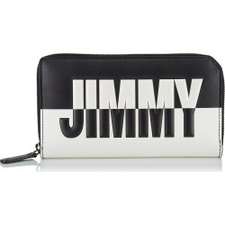 CARNABY Black and White Bicolour Travel Wallet with Embossed Logo found on MODAPINS from Jimmy Choo UK for USD $598.07