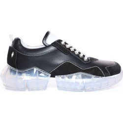 DIAMOND/M Black and White Calf Leather and Suede Trainers with Chunky Platform found on MODAPINS from Jimmy Choo UK for USD $749.16