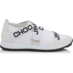 TORONTO White and Black Nappa and Knit Elastic Slip On Trainers found on MODAPINS from Jimmy Choo UK for USD $530.07
