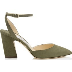 MICKY 85 Vine Suede Pointy Toe Pumps found on MODAPINS from Jimmy Choo UK for USD $689.32