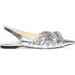 ANNABELL FLAT Silver Metallic Foil Closed Toe Flats found on MODAPINS from Jimmy Choo UK for USD $853.44