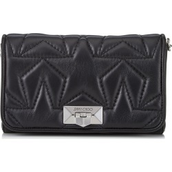 HELIA CLUTCH Black and Silver Leather Clutch with Chain Strap found on MODAPINS from Jimmy Choo UK for USD $1126.71
