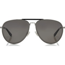 FIN Dark Ruthenium and Black Metal Aviator Sunglasses found on MODAPINS from Jimmy Choo UK for USD $346.25