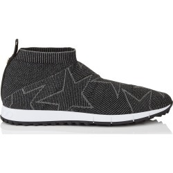 NORWAY/M Black and Dust Grey Knit and Lurex Trainers found on MODAPINS from Jimmy Choo UK for USD $472.16