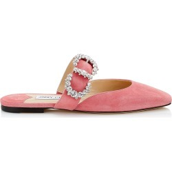 GEE FLAT Candyfloss Suede Flat Sandal with Jewelled Buckle found on MODAPINS from Jimmy Choo UK for USD $756.07