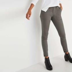 Joe Fresh Women's Utility Jean, Grey Gravel (Size 26)