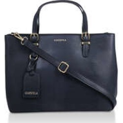 Womens Carvela Mini Hooper Slouch Tote, No Size, Navy found on Bargain Bro UK from Shoeaholics