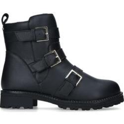 Carvela Comfort Rain - Black Buckle Biker Waterproof Leather Boots found on Bargain Bro UK from Kurt Geiger UK